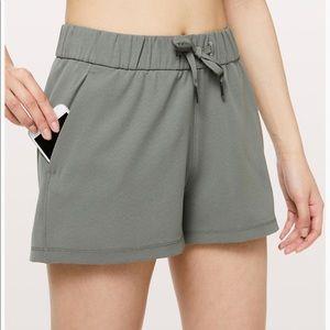 Lululemon Green On The Fly Shorts Size 4